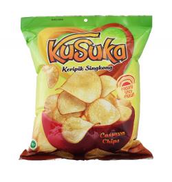 KUSUKA, Cassava Chips mit Padang Spicy Prawn Geschmack, 200 g