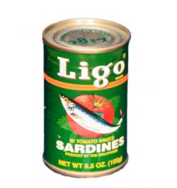 LIGO, Sardinen in Tomatsauce mit Chili, grüner Ligo, 155 g