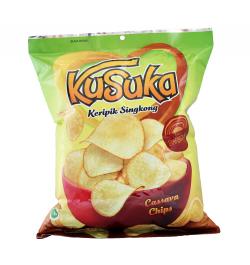 KUSUKA, Cassava Chips mit Barbeque Geschmack, 200 g